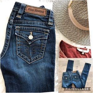 Rock Revival Jessica Skinny Blue Jeans
